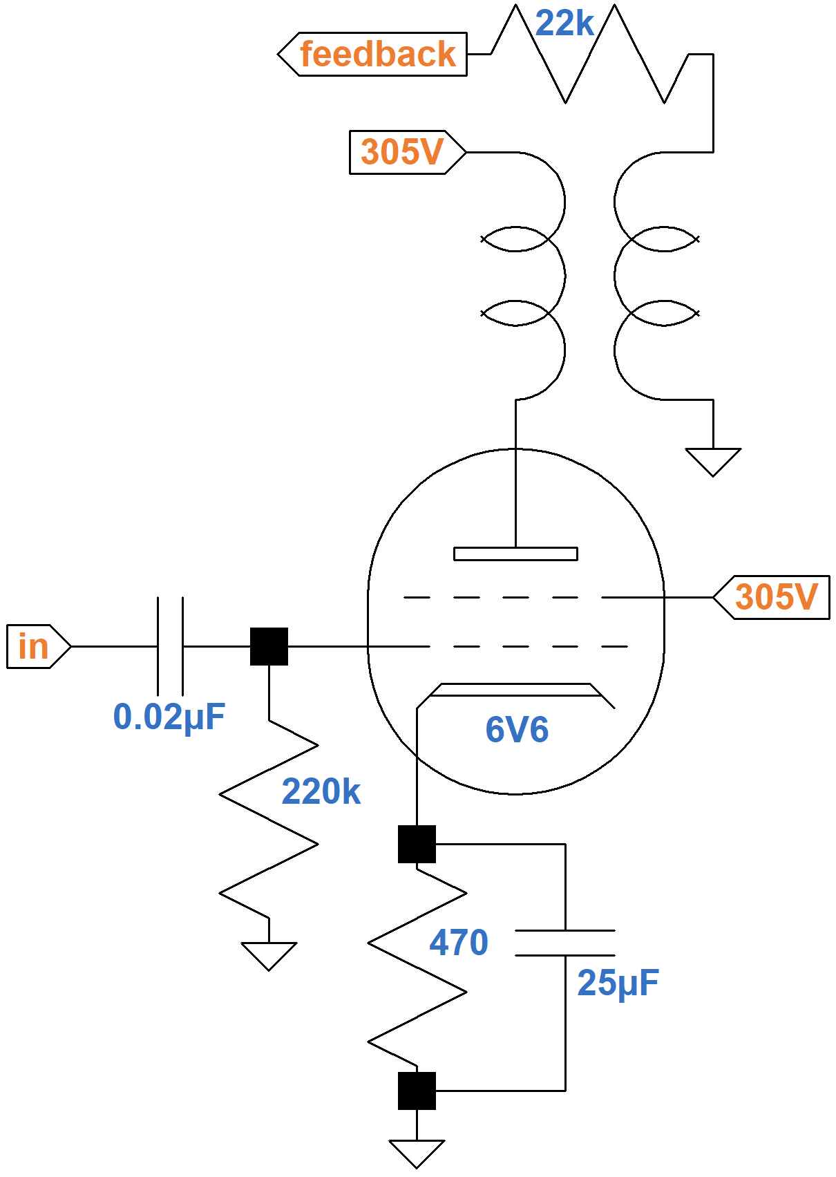 Fender Champ 5E1 Circuit Analysis