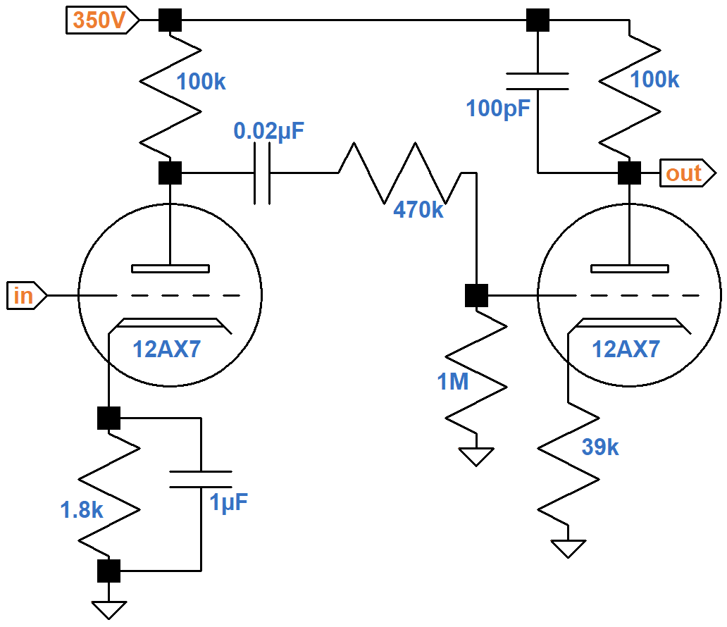 Soldano Super Lead Overdrive Channel Circuit Analysis Dual Pre Amp And A B Box Guitar Effect Schematic Diagram Slo Of The Second Stage