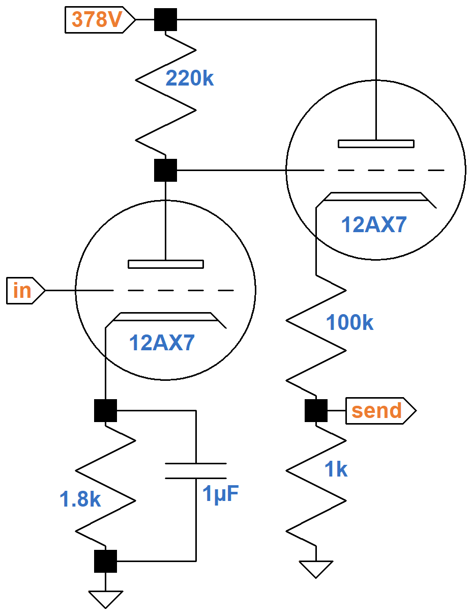 Soldano Super Lead Overdrive Channel Circuit Analysis Dual Pre Amp And A B Box Guitar Effect Schematic Diagram Slo Of The Fourth Stage Cathode Follower